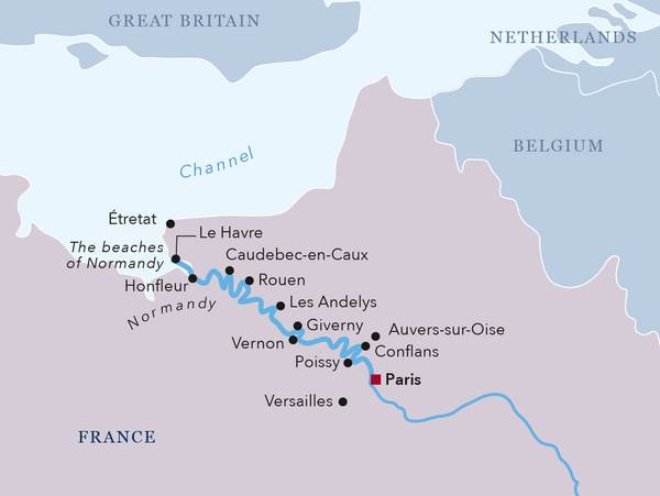 Map Of France Giverny.Amadeus River Cruises Cruise